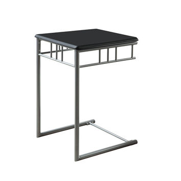 Black / Silver Metal Snack Table