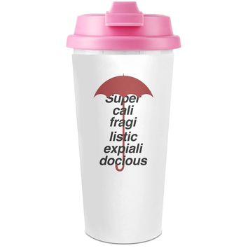 Supercalifragilistic Plastic Travel Coffee Cup - 450 ml - Enjoy Your Drinks Everywhere
