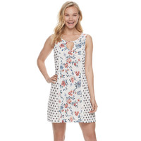 Juniors' Trixxi Floral Gauze Shift Dress