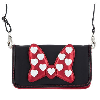 Disney Parks Minnie Mouse Bow Smart Phone Case Crossbody New with Tag