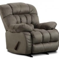 Grey Rocking Chair, Plush Microfiber | Softsuede Graphite Recliner