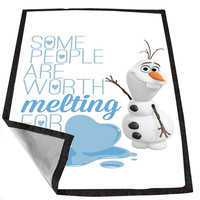 Olaf Disney Frozen Olaf Quotes for Kids Blanket, Fleece Blanket Cute and Awesome Blanket for your bedding, Blanket fleece *02*