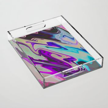 Tear Blinded Eyes Acrylic Tray by duckyb