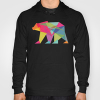 Fractal Bear - neon colorways Hoody by Budi Satria Kwan