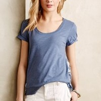 Contrast-Cinched Tee by Little Yellow Button