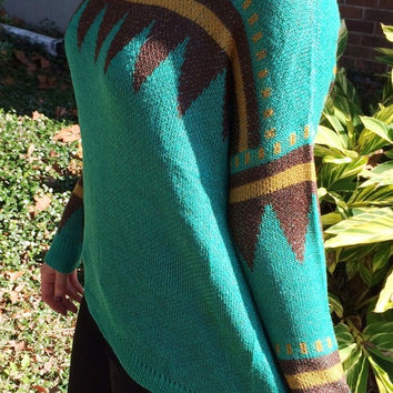 Green Triangle Oversized Sweater