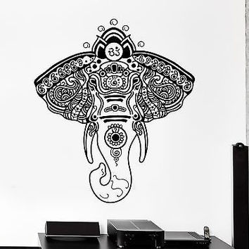 Wall Vinyl Elephant African Animals Ornament Mural Vinyl Decal (z3351)