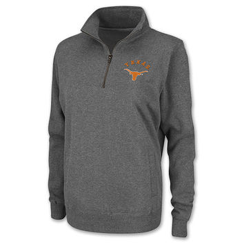 Women's Texas Longhorns College Quarter Zip Fleece Pullover Sweatshirt