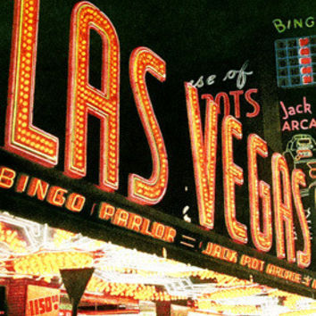 Las Vegas Strip Neon Casino Fine Art Print