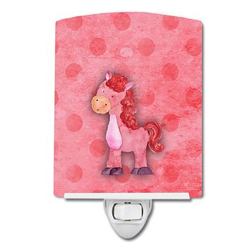 Polkadot Horse Watercolor Ceramic Night Light BB7379CNL
