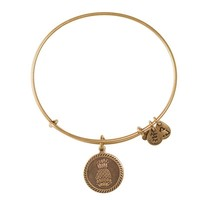 Alex and Ani Welcoming Pineapple Charm Bangle - Russian Gold