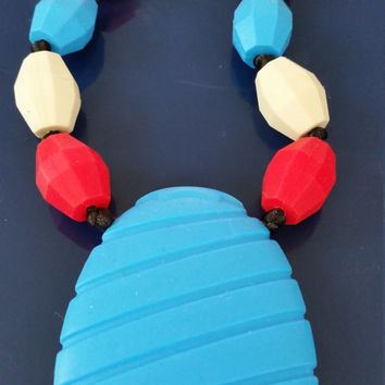 sensory chew necklace July 4 autism, anxiety, ADHD. Add, apraxia