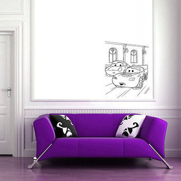 Wall Mural Vinyl Sticker Decal   machines road rivals DA1040