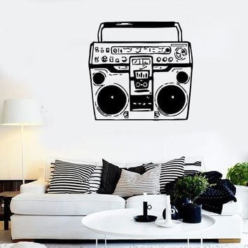 Wall Stickers Vinyl Decal Tape Recorder Vintage Music Retro (ig871)