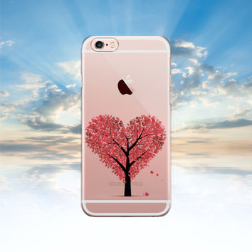 iPhone 6 case Clear iPhone 6S case LOVE TREE Samsung galaxy S6 case transparent Samsung galaxy S5 case Note 5 case iphone 5S case LG G4 case