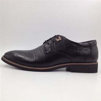 Size 38-44 Mens Shoes Genuine Leather Oxford Shoes Men Derby Shoes Black Brown Office Shoes Men F40