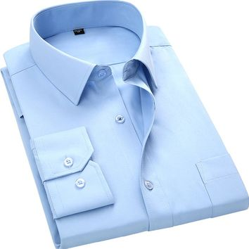 Solid Color Mens Dress Shirts