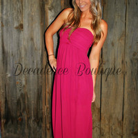 KNOT IT WINE CHIFFON DRESS