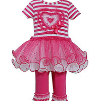 Bonnie Baby 3-24 Months Striped-Bodice Tutu Dress & Solid Leggings Val