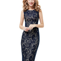 Lace Pencil Dress - Three Colour Options