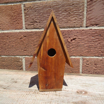 Cedar wood birdhouse - Small wood birdhouse - Indoor birdhouse - Small crafting birdhouse - Cedar wood Wren house - Wooden birdhouse