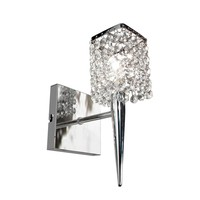 BAZZ Glam Sephora 1-Light Brushed Chrome Sconce-M3020DC - The Home Depot