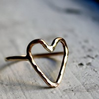14k Gold Fill Heart Ring
