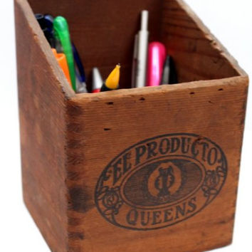 Vintage Wooden Cigar Box El Producto Queens, Cigar Aficionado, Desk Accessory, Home Decor, Cigar Collector