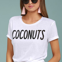 Chaser Coconuts White Tee