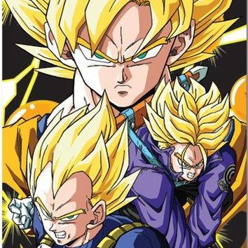 Great Eastern Entertainment Dragon Ball Z Crew Wall Scroll, 33 by 44-Inch