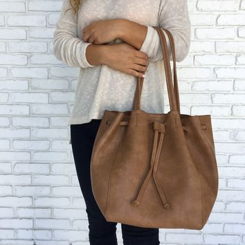 Tiffany Tote Handbag in Tan