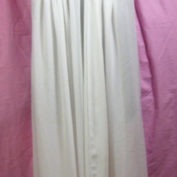 Sexy, Long Night Gown, Soft White, Chiffon, Oscar de la Renta, FREE SHIPPING Size S Small, Bridal Wedding, Honeymoon