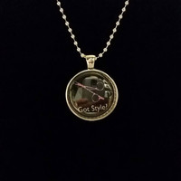 "Got Style Hairdresser 1"" Pendant Necklace"