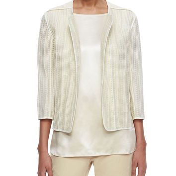 Charlane Textured Open Topper Jacket, Size: