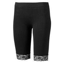 One Step Up Lace Biker Shorts - Juniors, Size: