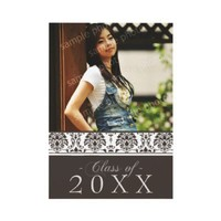 Damask 5x7 Graduation Announcement (chocolate) from Zazzle.com