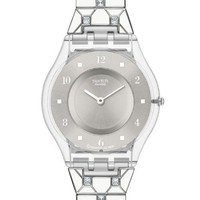 swatch Women's SFK356G Quartz Stainless Steel Silver Dia Casual Watch