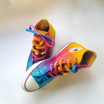 Sunrise Sunset Tie Dye Converse