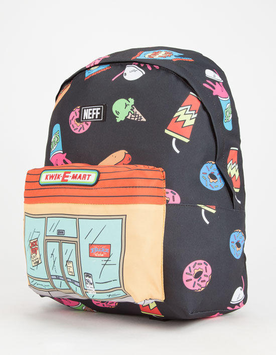 ... new product f5041 7c6f1 Neff The Simpsons Kwik Market Backpack Black  One Size For Men 26129810001 ... 28ecced401