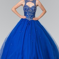 Royal blue quinceanera dress #gl2351