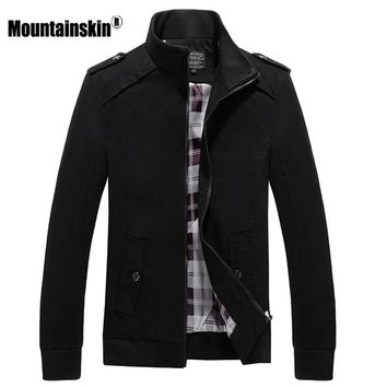 Mountainskin 4XL Men's Jackets Spring Autumn Coats Bomber Male Military Jacket Slim Fit Casual Coat Solid Brand Jacket SA468