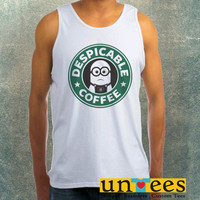 Minion Starbuck Coffee Logo Clothing Tank Top For Mens