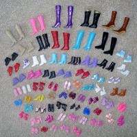12 pairs creative combination BARBIE SHOES Babi Ba ratio doll shoes  HU