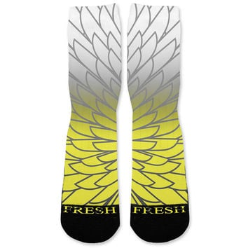 Wings 6 Custom Athletic Fresh Socks