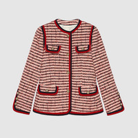 Gucci Striped tweed jacket