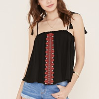 Embroidered Self-Tie Cami