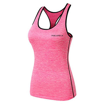 Cool Miami Women's Cool Dry Fit Compression Tank Top Sports Fitness Base Layer Sleeveless Vest