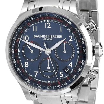 Baume and Mercier Capeland Stainless Steel Chronograph Automatic Watch MOA10066