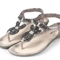 Shining Rhinestone Embellished Sandals Coffee, Buy Shining Rhinestone Embellished Sandals Coffee with cheapest price|wholesale-dress.net