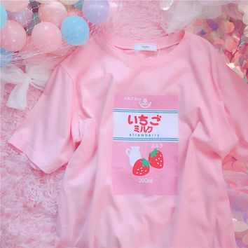 Harajuku Strawberry Milk T-shirt